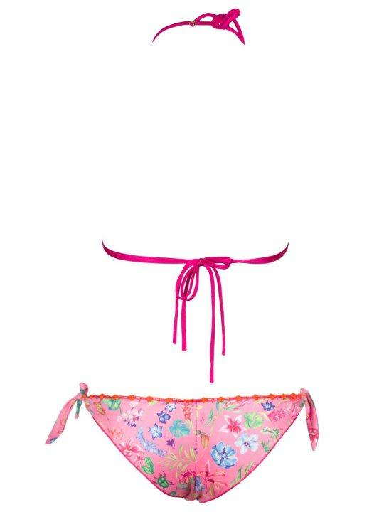 Bikini Donna Pin Up Rosa Fantasia Floreale - 18P065CF28