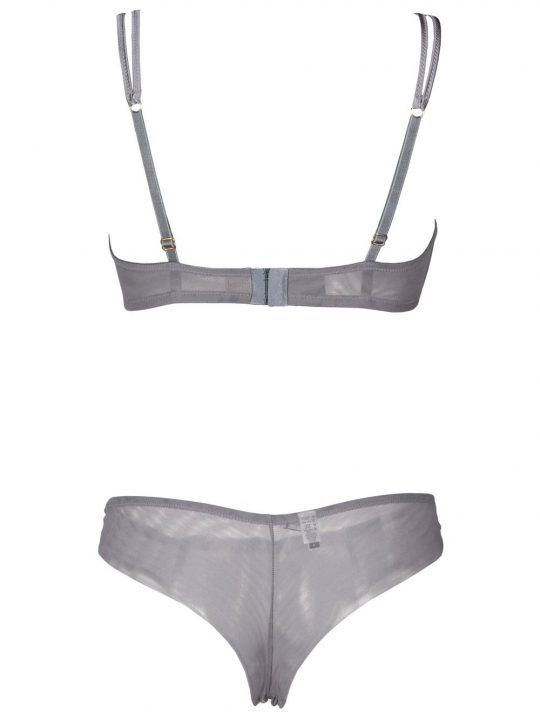 Completo Intimo Donna Valery in Pizzo Grigio - RG03HC11