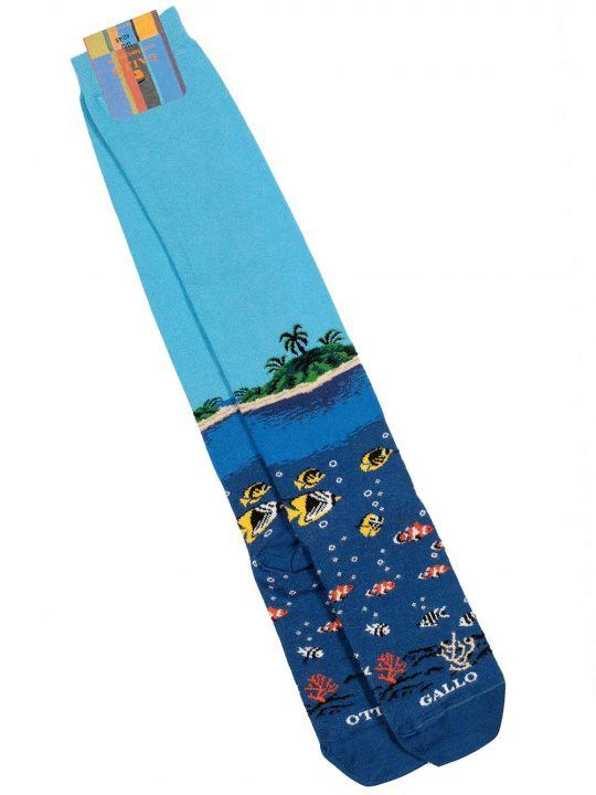 Gambaletto Uomo Gallo Cotone Fantasia Tropical - AP51002712723