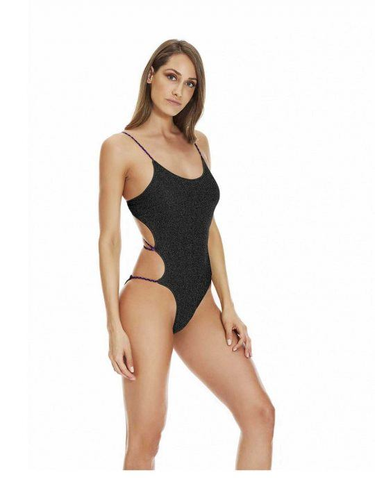 Costume Intero Donna 4Giveness Nero Lurex - FGBW0105