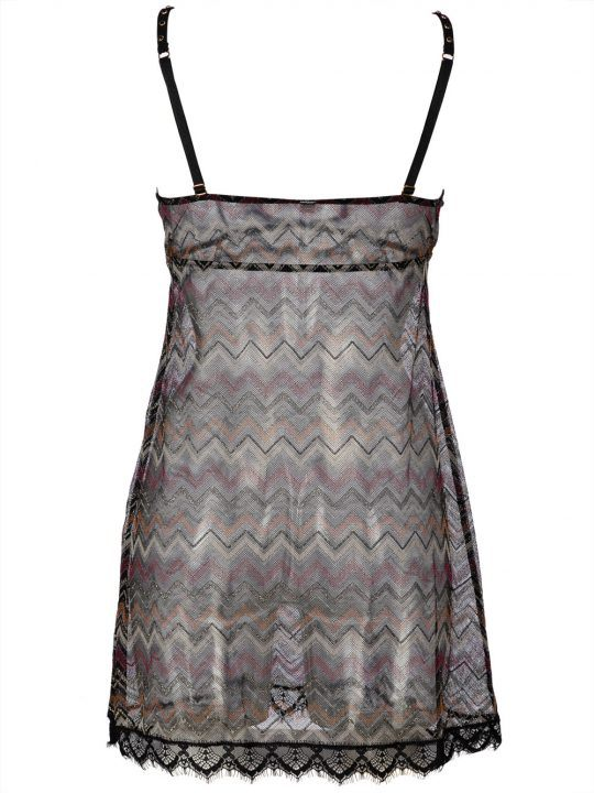 Babydoll Donna Valery in Pizzo e Toulle Nero - BB12LON