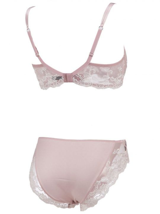 Completo Intimo Donna Ambra in Toulle Rosa - P18F0333475